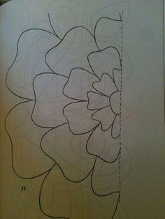 Flower quilt pattern by Kimara