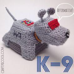 Doctor Who K-9 Amigurumi Crochet doll by craftyiscoolcrochet
