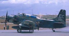 Douglas A-1 Skyraider at Pleiku, Vietnam 1967