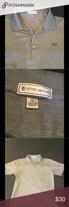 Peter Millar polo shirt like new Gently worn. Soft high quality fabric. Brand name shirt great for any occasion. Peter Millar Shirts Dress Shirts
