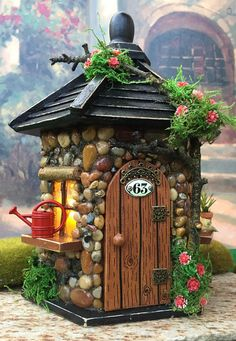 This outdoor fairy house with lights would be perfect in any fairy garden. or placed in with a potted plant. could also be used as a fairy night light. At The Healers Garden we are dedicated to the finest craftsmanship. Each Fairy house is made using outdoor glue and is finished off