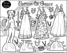 Paper Thin Personas:  Pattern & Grace-you can click on PDF or PNG versions to print and color