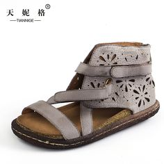 Cheap sandal woman shoes, Buy Quality casual sandals women directly from China genuine leather women sandals Suppliers: 2017 handmade vintage genuine leather women sandals personalized rome buckle style open toe flat casual sandals women shoes