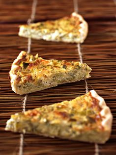 Pie with leeks and goat cheese Kitchen Recipes, Cooking Recipes, Sandwich Cake, Quiche Lorraine, Food Trends, Pasta, Health Desserts, Cooking Time, Finger Foods