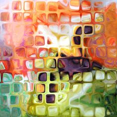 Original Modern Abstract Art   Tile Art Mosaic   Tile Art #12, 2007