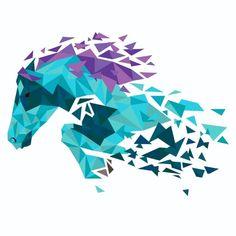 Création digitale pour un logo Creations, Logo, Horse, Paint, Drawing Drawing, Logos, Logo Type