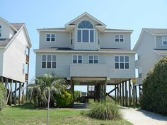 $1230 Holden Beach, NC - Boardwalk 645 a 4 Bedroom Oceanfront Rental House in Holden Beach, part of the Brunswick Beaches of North Carolina. Includes Linens. Non-Smoking.