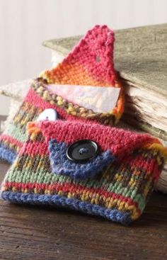 gift card holders - free patterns