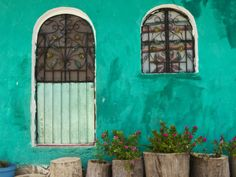 Mexican House Exterior. Colored stucco shall forever be the best.