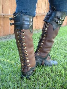 Steampunk or Western Custom Leggings designed by WesternSpice and created by Mr. Legendary Leather - LegendaryLeather.blogspot.com - MrLegendaryLeather on Etsy