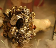 Jeweled bronze bouquet