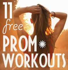 At-home workout & exercise plans for prom... no gym membership or fancy equipment needed!
