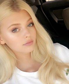 New Fashion: Beauty Girls Blonde Beauty, Blonde Hair, Hair Beauty, Loren Gray Snapchat, Loren Grau, Foreign Celebrities, Gray Instagram, Grey Makeup, Grey Eyeshadow