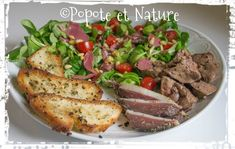 © Popote et Nature - Salade périgourdine au magret et au foie gras maison