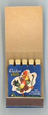 Chicken in The Rough Bunnville Cafe KS Vintage Full Feature Matchbook | eBay