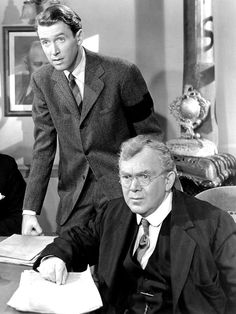 """Jimmy Stewart and Thomas Mitchell in """"It's a Wonderful Life"""" (1946)"""