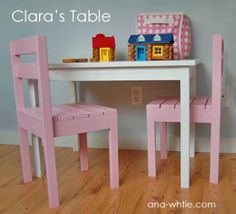 I want to make this!  DIY Furniture Plan from Ana-White.com  This simple children's play table is easy and economical to build, at the perfect height for toddlers and preschoolers.