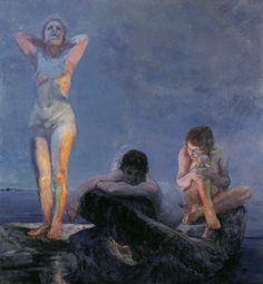 Max Klinger, Die blaue Stunde (L'heure bleue), 1890, Öl auf Leinwand