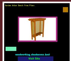 Garden Arbor Bench Free Plans 070135 - Woodworking Plans and Projects!