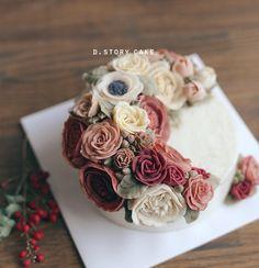 birthday buttercreamcake -peony 플라워케이크