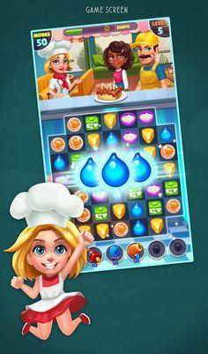 Baking Dash: King of Cake Masters - Match 3 games on Behance
