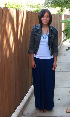 Putting Me Together: dresses using a maxi dress as a skirt.