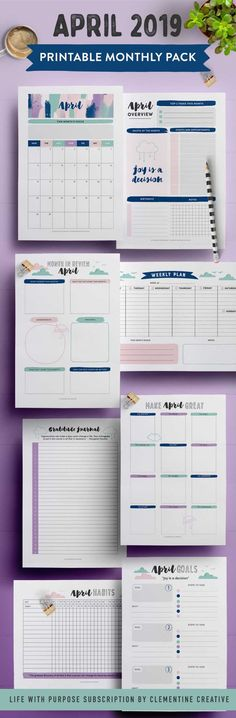 The June 2019 printable monthly planner pack including: calendar, monthly overview, colouring page, weekly planner, and more! Agenda Planner, Monthly Planner, Printable Planner, Student Planner, Free Printables, Memo Boards, Happy Planner Accessories, Write It Down, Journal Layout