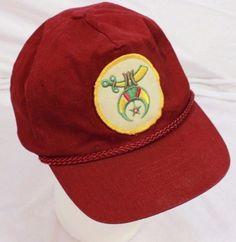 VTG-Mystic-Shriners-Baseball-Cap-Hat-Adjustable-Snapback-Ancient-Arabic-Order