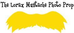 Lorax Mustache Photo Prop