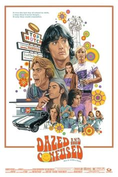 Dazed and Confused by Paul Mann Classic Movie Posters, Movie Poster Art, Poster Wall, Poster Prints, Dorm Posters, Cinema Posters, Dazed And Confused Movie, Wall Film, Alternative Movie Posters