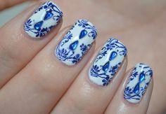 Nails vs Nails ~ Delfts Blue | Beautynailsfun.nl