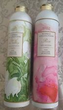 MARKS & SPENCER FLORAL  TALCS ,ROSE & LILY OF THE VALLEY 200 g EACH