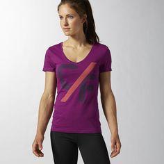 Reebok T-shirt Reebok CrossFit Elevated - Purple | Reebok Belgium