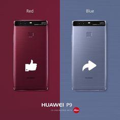¿¿¿Y tu de que Huawei P9 eres??? Me Gusta si eres de Red Comparte si eres de Blue