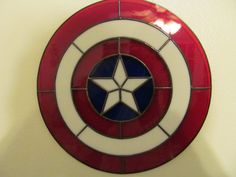 Stained Glass Captain America Shield by wistfulfancy on Etsy