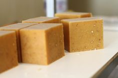 Oatmeal and Honey cold process soap by Sachi.