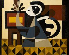 Joaquim Tenreiro (1906-1992) Homenagem a Dacosta   óleo s tela 40x50cm