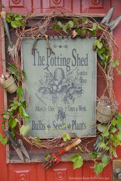 The Potting Shed Garden Shop Sign | homeiswheretheboatis.net/ Arb frame???