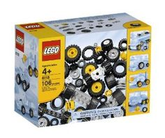 LEGO Bricks & More LEGO® Wheels 6118 by LEGO. $29.99. Great gift idea for that creative builder. Special elements of wheels and tires. Includes related pieces. 106 elements. Take your LEGO creations on the road. From the Manufacturer                Wheels and tires for LEGO® models on the go! For cars, trucks and more, this collection of wheels, rubber tires, and related pieces has everything you need to take your LEGO creations on the road!                             ...