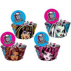 Cupcake Wrapper Monster High Kids http://www.tozaki.com.br/produto/5204/cupcake+wrapper+monster+high+kids+-+12un