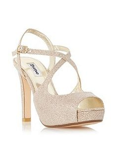 e73dfb48517de Dune Merry Peep Toe High Heel Sandals - House of Fraser