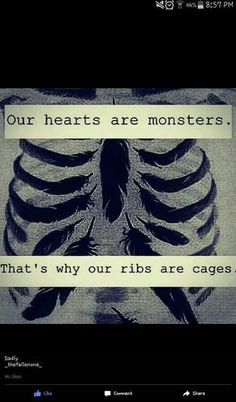 quote, monster, and cage image