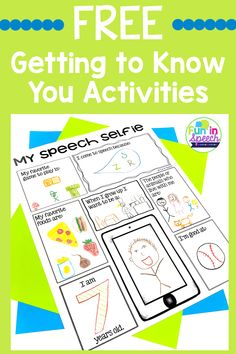 Back to School Getting to Know You Worksheets and Activities for Speech Therapy