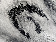 People want to see patterns in the world. It is how we evolved  Satellite photos of actinoform clouds