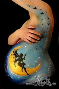 Fairy belly painting Lonnie kaàrengaard #bellypaint