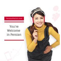 You re welcome in farsi