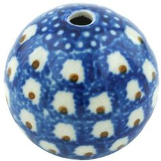 This Polish Pottery Stoneware Bead - 5 is handmade and handpainted by the Ceramika Artystyczna factory in Boleslawiec, Poland. How To Make Necklaces, Polish Pottery, Arts And Crafts Projects, Stoneware, Hand Painted, Beads, Creative, Handmade, Home Decor