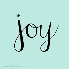 One Little Word 2016: Joy