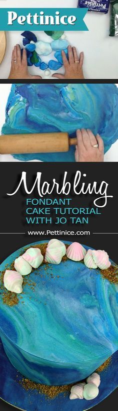 Full feature tutorial >> https://goo.gl/UFksDS High speed version >> https://goo.gl/NA3Qiw Print and save >> http://goo.gl/2pRlNU  What's old is new again as marbled fondant makes a comeback as a popular 2016 cake trend.  Watch how Jo Tan with Scrumptious cake shows us how she rolls her fondant using Sprink, a canola oil spray.  Print and full feature videos available at www.Pettinice.com