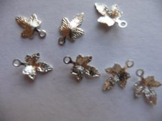 Buy Charm, silver plated, brass, 12x12mm, maple leaf, Pkg Of 12 by darsjewelrysupplies. Explore more products on http://darsjewelrysupplies.etsy.com